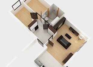 Mieszkanie 3 pokojowe - rozkład - Akacjowa Aleja Etap V, Radzymin