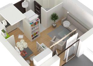 Mieszkanie 1 pokojowe - rozkład - Akacjowa Aleja Etap V, Radzymin