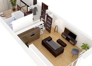 Mieszkanie 2 pokojowe - rozkład - Akacjowa Aleja Etap V, Radzymin